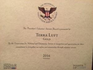 Fabulous Presidents Volunteer Service Award Terra Luft View From The Short Hairstyles For Black Women Fulllsitofus